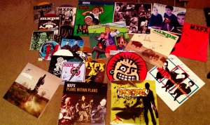 A Collection of every MxPx record on vinyl, each signed by the entire band in Bremerton, WA