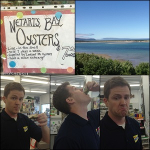 Netarts Bay, Oregon has the Freshest Clams in the entire US. Here I try eating a Live, Raw Oyster!