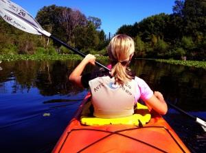 Kayaking with my wife Emily, in the University of Washington Arboretum