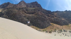 Flipping out over hidden  Sand Dunes near Mattawa in Washington State
