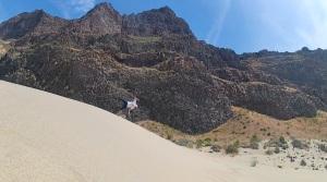 Flipping out over hidden  Sand Dunes near Mattawa in Washington State
